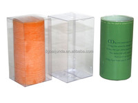 gift candle plastic clear cube boxes