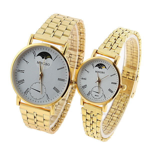 fashion womens casual watches  reloj mujer 2015 hombre gold watch women Stainless steel ladies watch women quartz watches lots