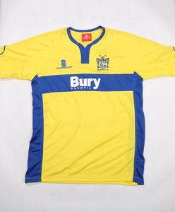 Custom Yellow and Blue soccer jersey for team