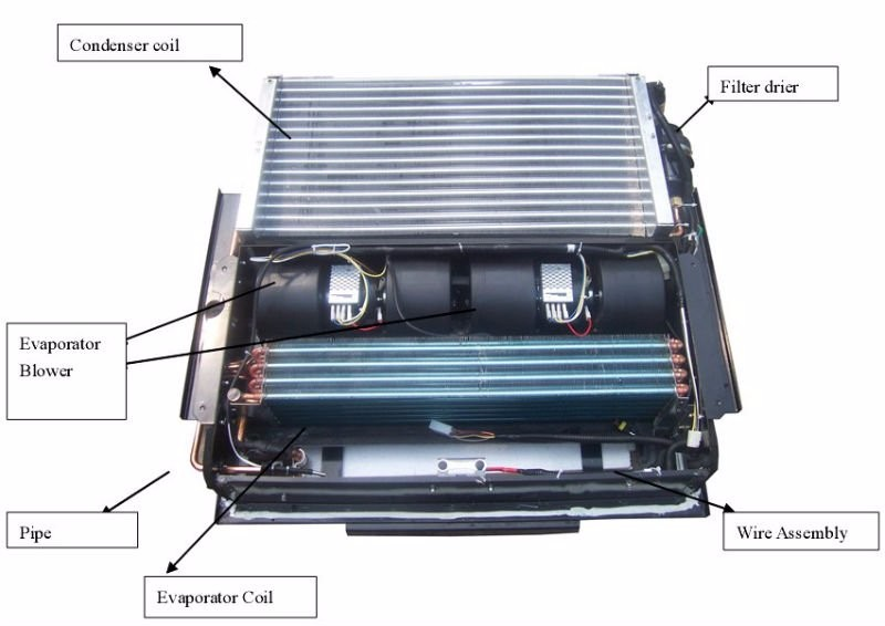 12v And 24v Roof Mounted Mini Van Air Conditioner