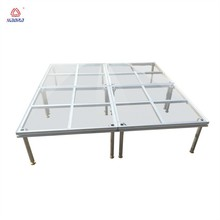 adjustable custom acrylic glass stage platform with aluminum frame for outside concert event