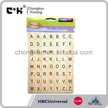 Wood Effect Alphabet Self-Adhesive Stickers