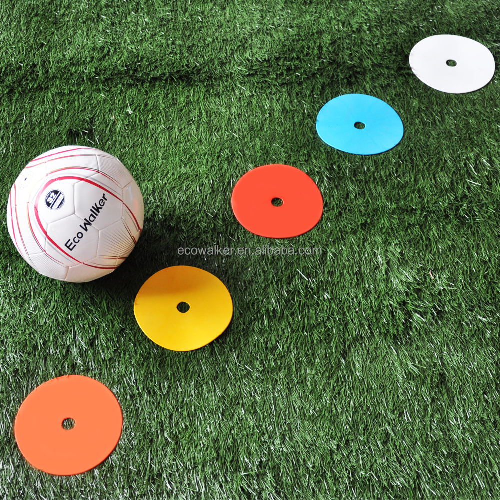 Eco Walker Flat Cones Spot Markers for Soccer Basketball Volleyball Football Sports Speed Agility Training