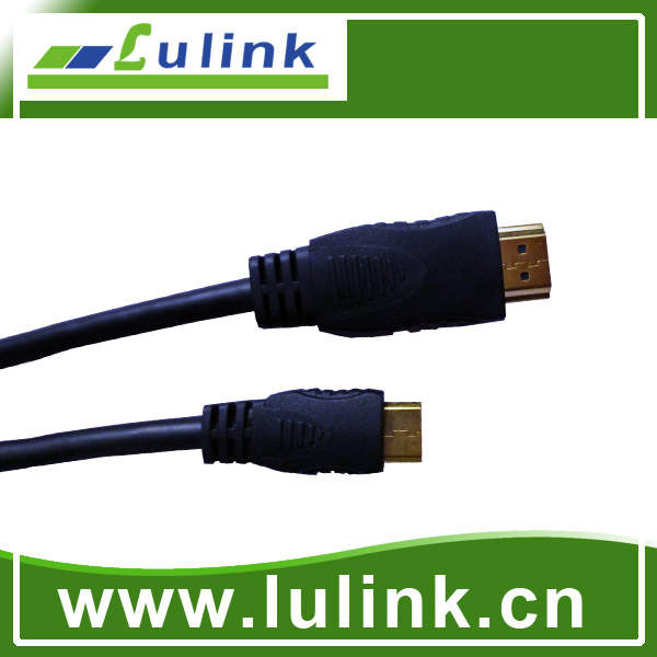 Solid Color Mini type A TO C HDMI M to M Cable, 1.3/1.4V