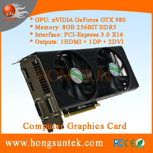 OEM NVIDIA GeForce GTX 980 8GB GDDR5 DVI/HDMII/DisplayPort PCI-Express Graphic Video Card