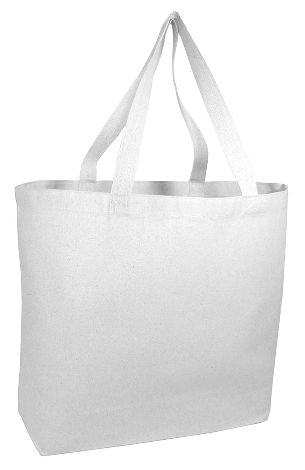 c0abcaa223e Get Quotations · 12 PACK Large Heavy Canvas Beach Tote Bag Boat Bag - Canvas  Deluxe Tote Bags BULK
