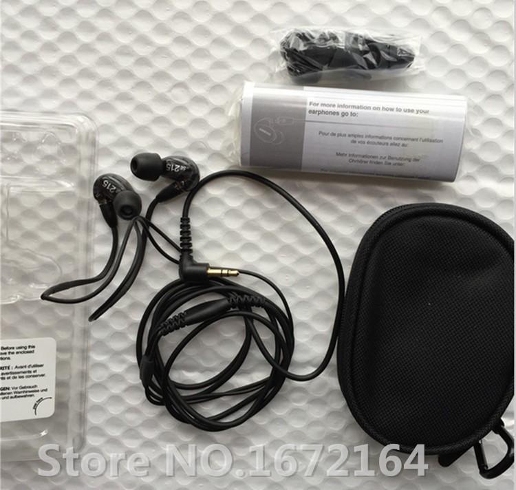 האיכות הטובה ביותר SE215 ב-האוזן אוזניות צליל בידוד אוזניות Hifi אוזניות מוסיקה סטריאו אוזניות 3.5 מ
