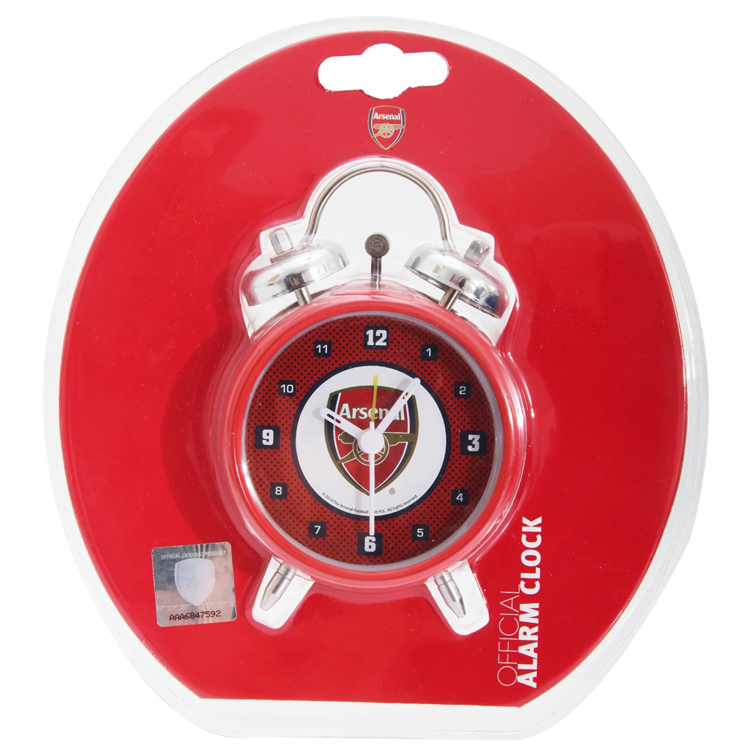 Arsenal FC Official Bullseye Soccer/Football Crest Alarm Clock