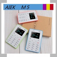 4.8mm Ultra Thin AIEK M5 card mobile phone mini pocket students personality children phone the most thin aeku m5 card phone