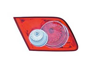 APDTY GK2A-51-3F0C Tail Light & Back Up Lamp Housing Fits 2003-2005 Mazda 6 Rear Right Trunk Lid Mounted (Sedan or Hatchback; Replaces GK2A-51-3F0C)
