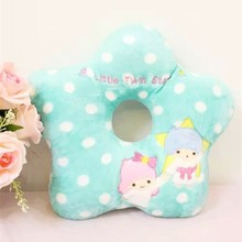 Little twin star beautiful cushion for leaning on promotional cheap donut plush toy