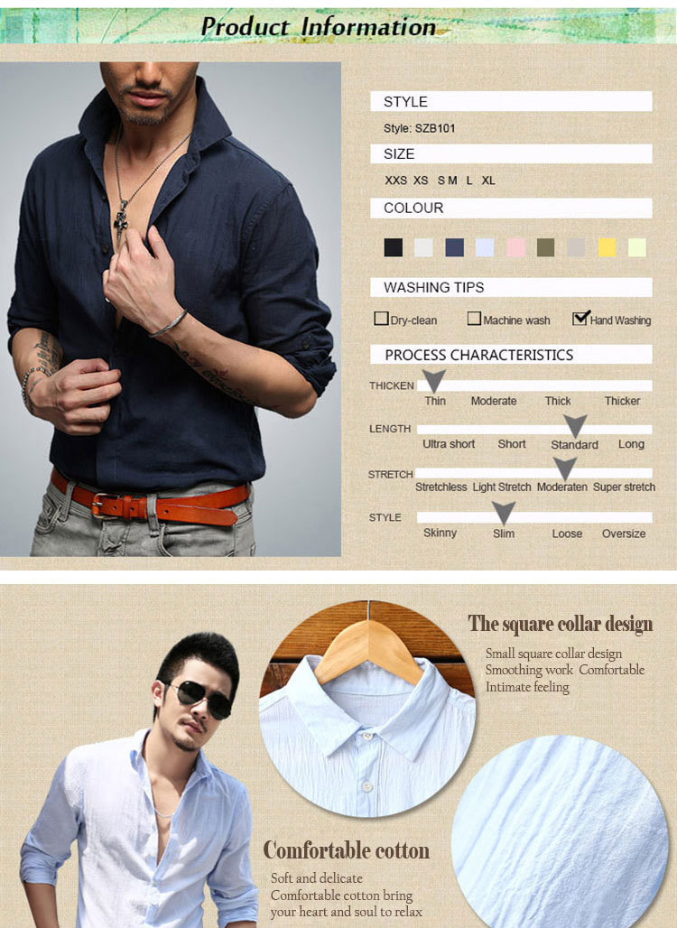 5d4a2a09b85a 2019 Wholesale Quick Drying Men S Casual Chambray Shirts Summer ...