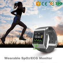 CE/FDA Approved Sport Smart Watch Wearable Bluetooth SpO2/ECG/blood pressure Monitor with pedometer