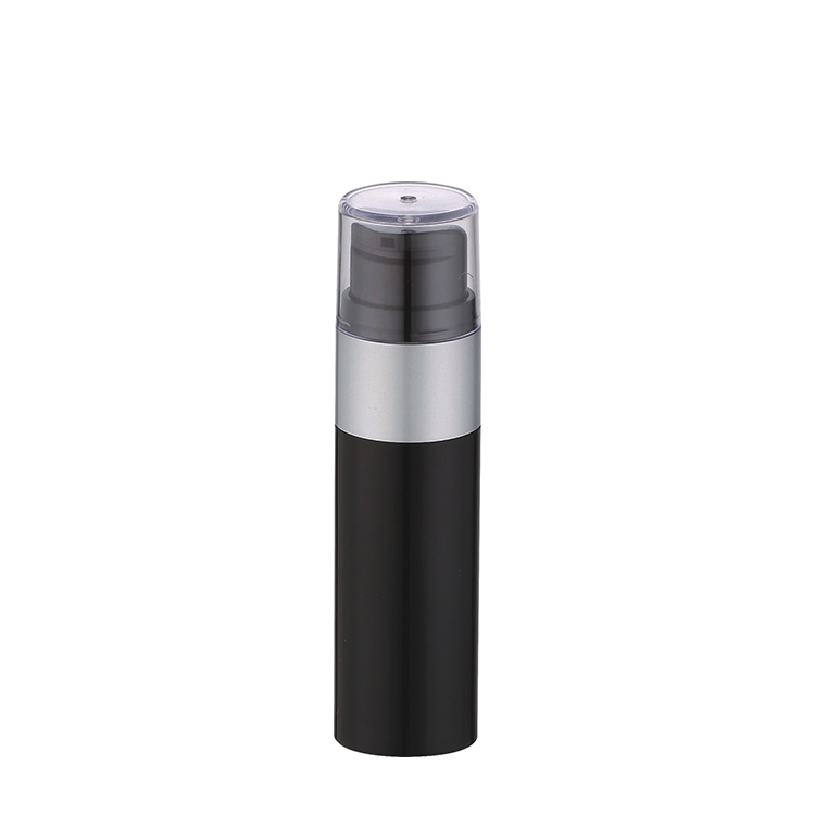 New Design Straight Round Black Acrylic Cosmetic Bottles 15ml 30ml 50ml