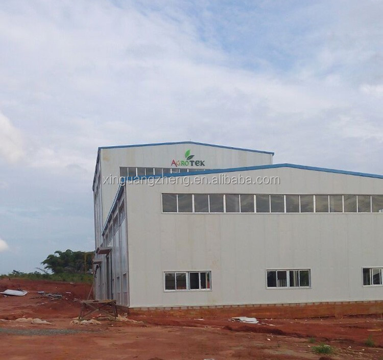 CCIC certificated prefabricated steel rice milling plant in Nigeria
