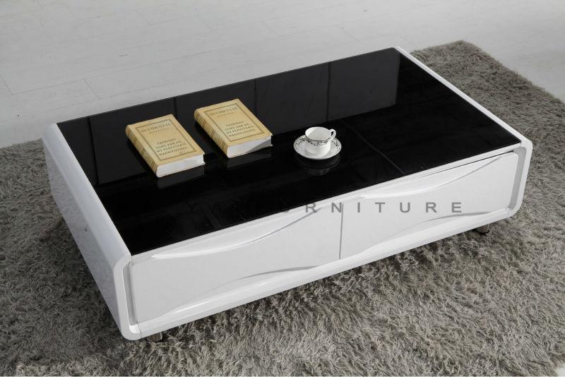 Teak wood center table glossy design wood glass center for Center table design