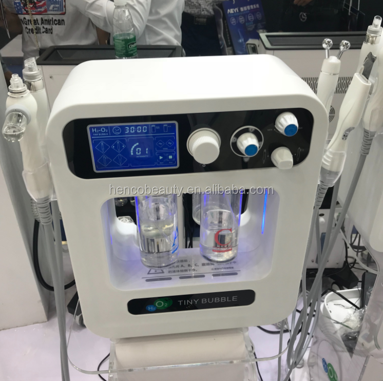 W04X beauty aqua facial machine with bipolar RF high pressure oxygen injection and skin scrubber