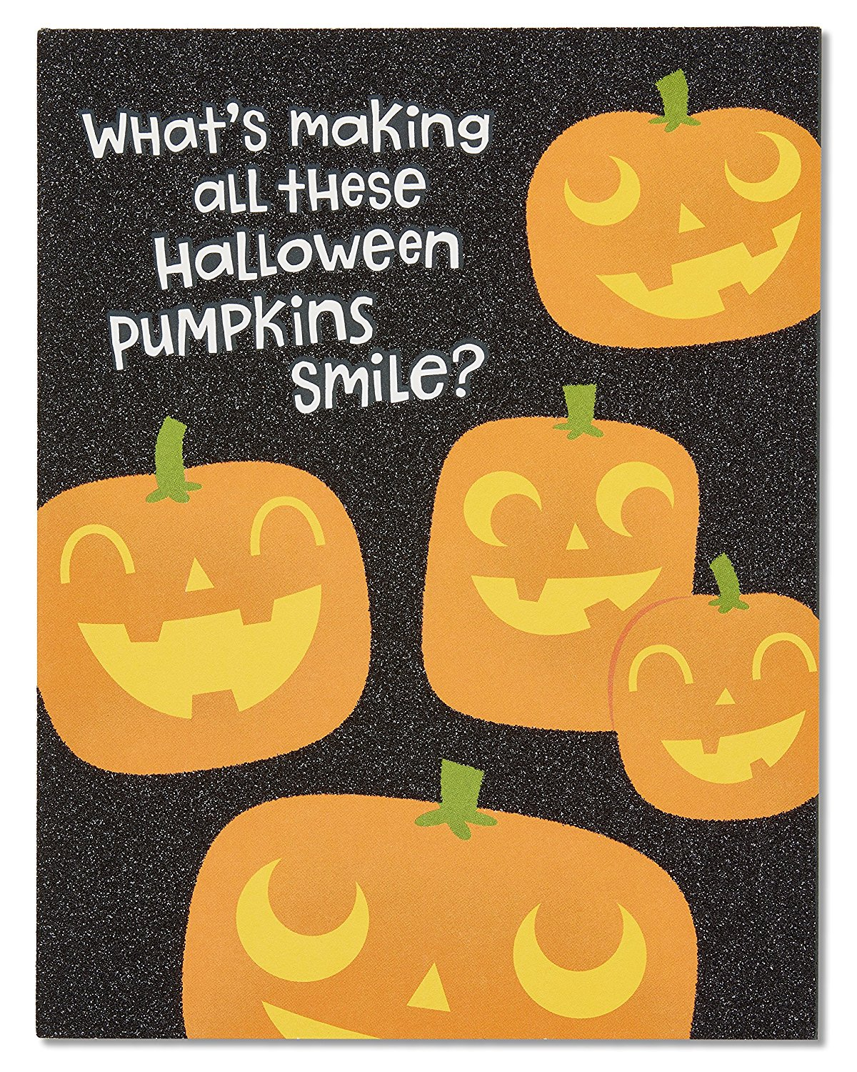 Cheap halloween excel card find halloween excel card deals on get quotations american greetings jack o lantern halloween card with glitter kristyandbryce Images