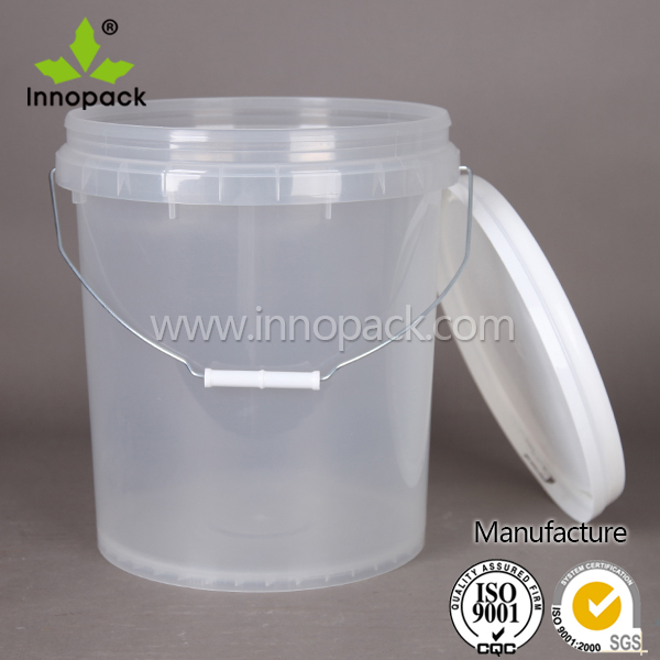 Transparent Clear Food Grade 20l Plastic Bucket With Leak