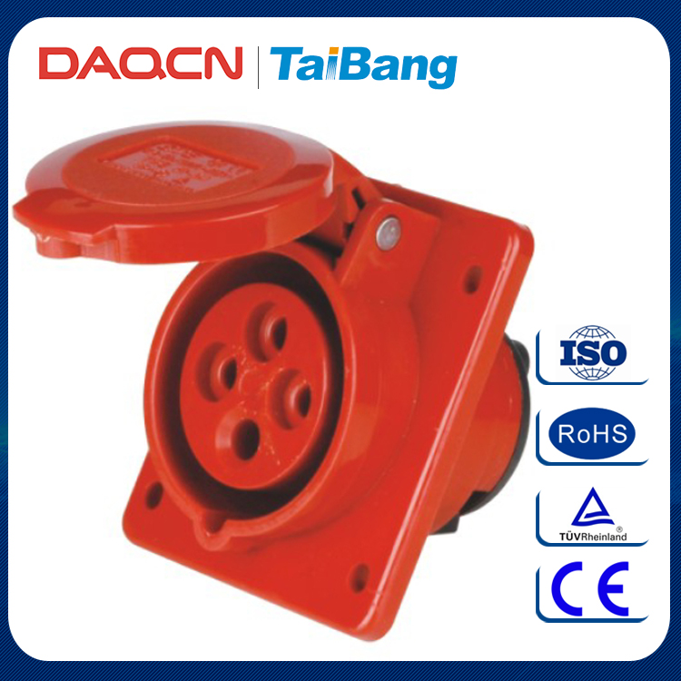 DAQCN 16A/32A Waterproof Nylon Body 4 Holes Industrial Electrical Coupler Socket