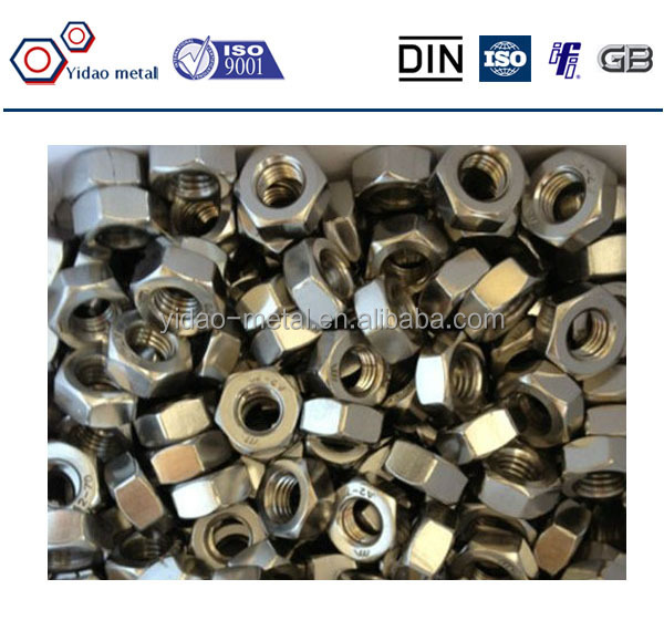 High Quality Zinc Plated Carbon Steel DIN 934 Hex Nut manufacturer