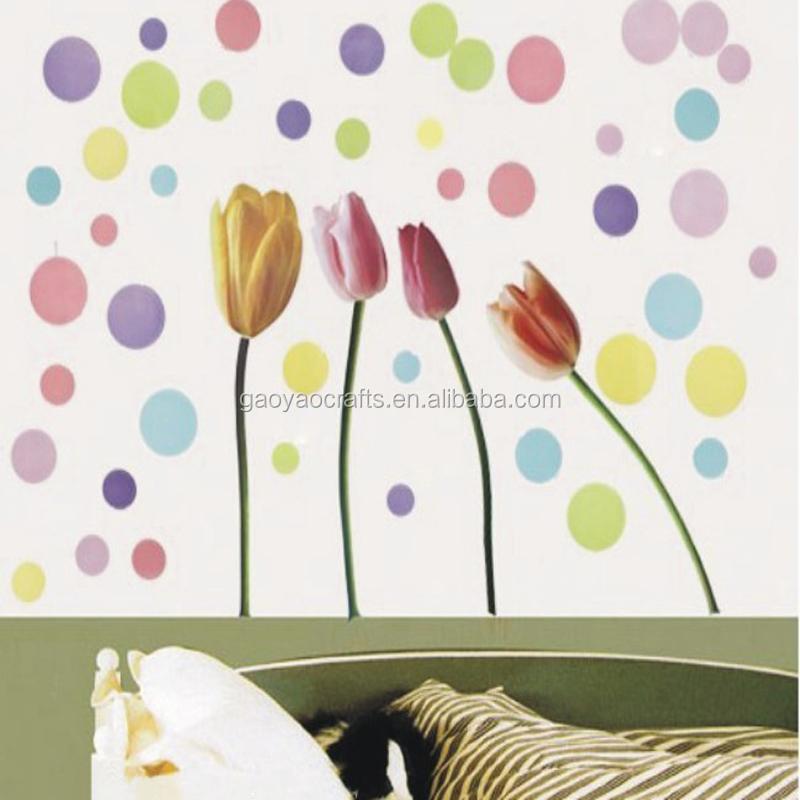 habitacin wallpaper etiqueta de la pared tulip backround pantalla crculo colorido de la pintura para el