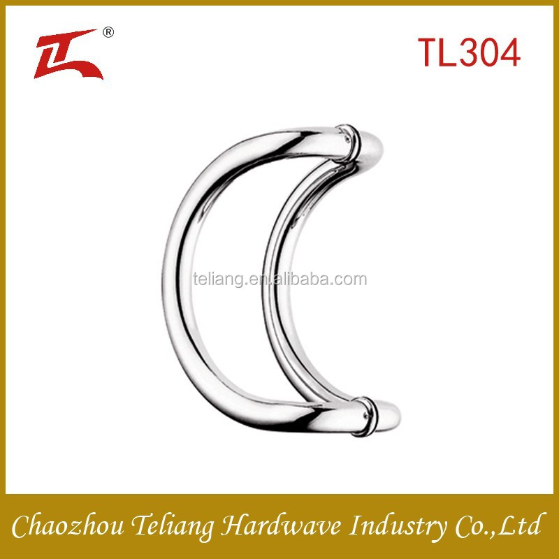 Household stainless steel glass pull door handle