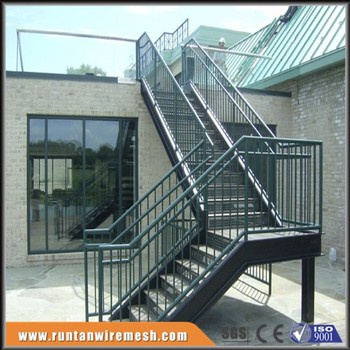 prefab outdoor steel outside metal stairs and landings buy metal stairs and landings product