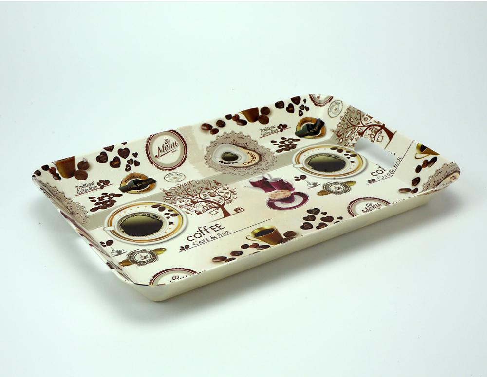 Factory wholesale cheap coffee design rectangular disposable plastic divided food tray