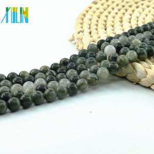 L-0574 Factory Outlet Moss Jasper Natural Gemstone Beads 4mm, 6mm, 8mm, 10mm, 38cm each strand for the rainbow jasper beads