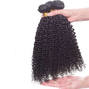REINE Hair Afro Kinky Curly Human Hair Weaving 3pcs/lot Fast Shipping 100% Natural Indian Virgin Hair