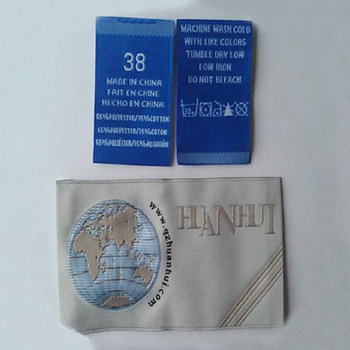 Eco-Friendly famous embossed clothing woven labels