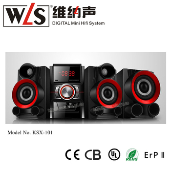 New Design Hifi System Wooden good sound quality MH-51SW with wireless blue connect and wired microphone