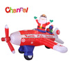 inflatable aircraft with santa christmas decorating