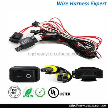 Universal Wiring Harness Include Switch Kit Car Auto Fog Lights Lamp