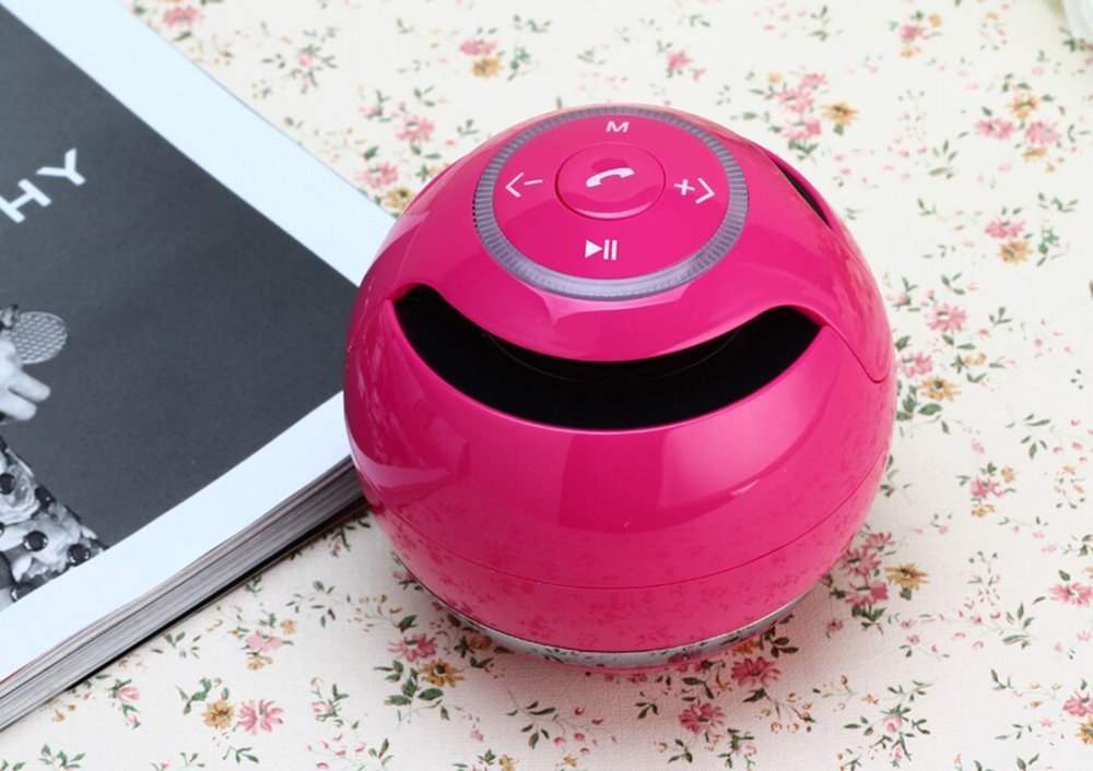 CCLOON Wireless Bluetooth Speaker, Bass Mini Speaker ,Round and Portable Speaker
