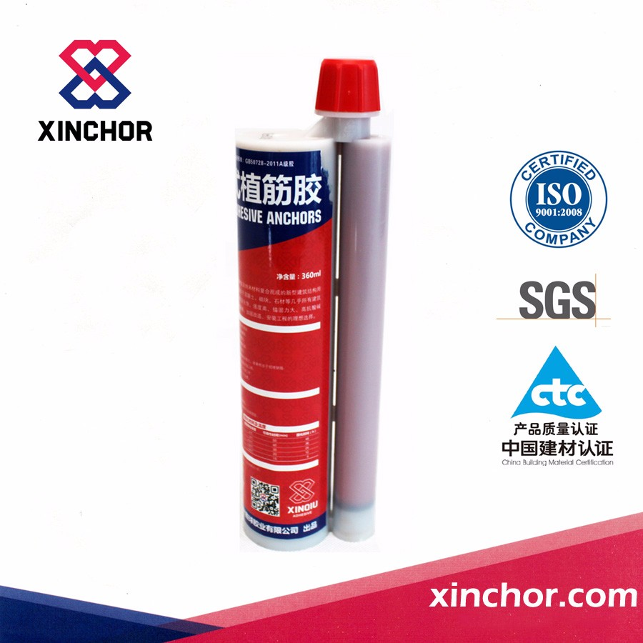 two component cartridge packed epoxy injection adhesive with brick anchor bolt