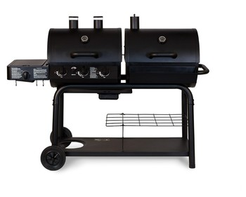 Outdoor Cast Iron Gas Charcoal Combo Bbq Barbecue Grills With Bottom Shelf