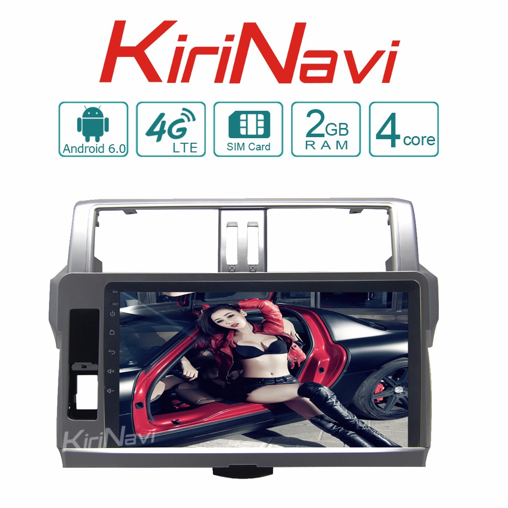 Kirinavi WC-TP1055G android 6.0 car multimedia for toyota prado 2014 2015 2016 car navigation car stereo DVD wifi 4G SIM card