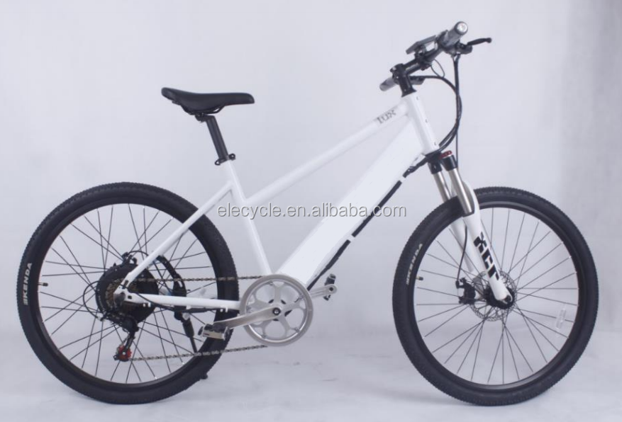 longwise electric bike with hidden lithium battery ,26 inch lady city ebike with EN15194