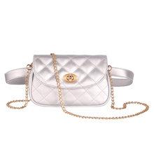 Модная брендовая поясная сумка в клетку, женские Поясные Сумки из искусственной кожи, Дамская поясная сумка с регулируемой металлической ц...(Китай)