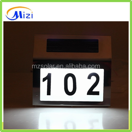 Solar address light Number plate lights Doorplate lights