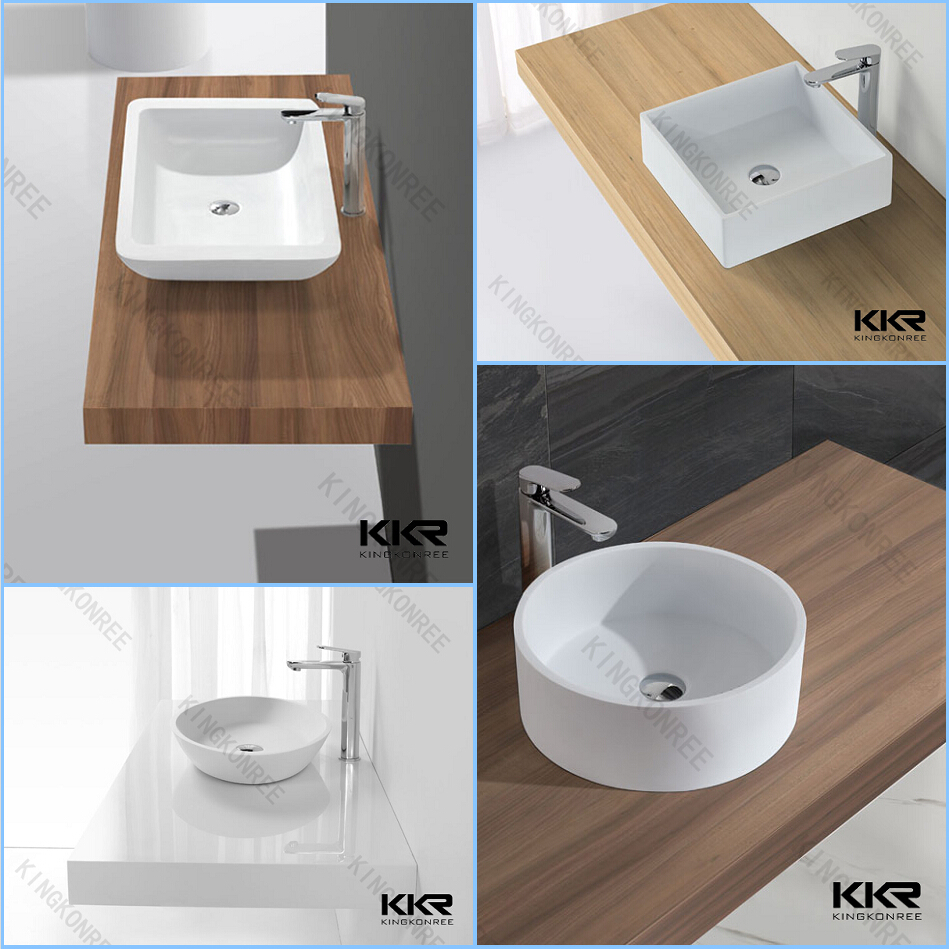 Artificial Marble Countertop Square Basin Sink Wash Basin