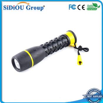 Waterproof Rubber Flashlight Mini Led Flashlight