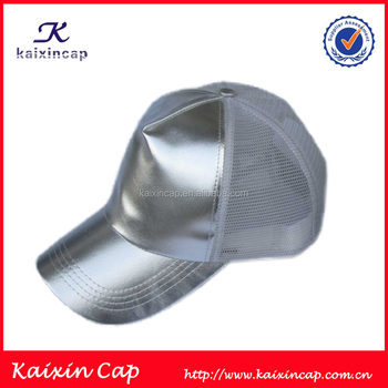 Tinfoil Silver Blank Cap Without Logo Trucker Mesh Hat - Buy Tinfoil ... 42e03857324