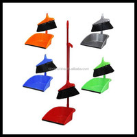 Home use dustpan and brush set with long handle
