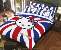 Cartoon hello kitty 3D printed kid bedding sets
