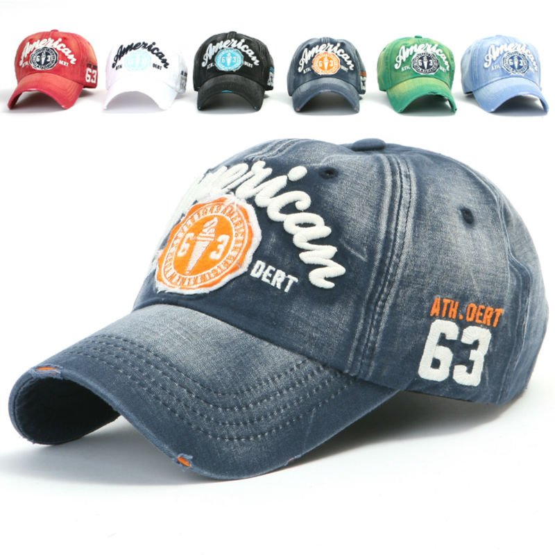ililily Structured Flat Bill Cotton Baseball Cap