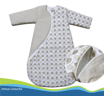 Low Price Long Sleeve Sleeping Bag Detachable Sleeves Baby Embroidery Cotton