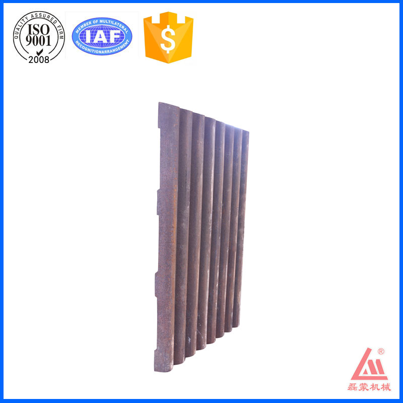 China mining equipment manufacturer parts property movable jaw plate with ISO9001:2008